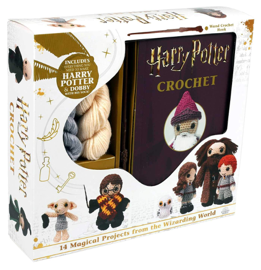 """The """"Harry Potter Crochet"""" Crochet Kit by Lucy Collin is shown as pictured on Amazon."""
