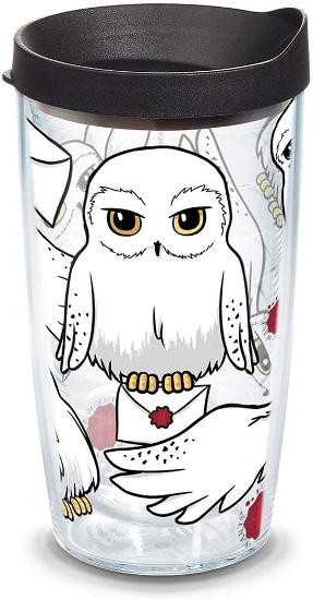 The Harry Potter - Hedwig Insulated Tumbler with Wrap and Lid from Tervis is shown as pictured on Amazon.