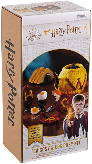 "The ""Harry Potter"" Tea Cosy and Egg Cosy Knitting Kit by Eaglemoss Hero Collector is shown as pictured on Amazon."
