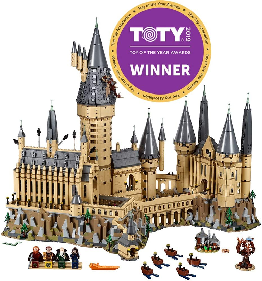 The LEGO Harry Potter Hogwarts Castle 71043 Castle Model Building Kit is shown as pictured on Amazon.