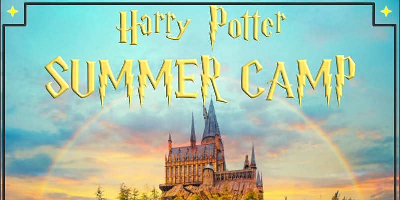 The Eventbrite banner for the Harry Potter Summer Camp from Lighthouse Players in Vista, CA, is shown.