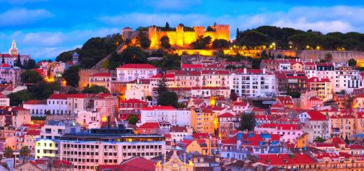 The city skyline of Lisbon, Portugal