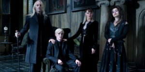 Lucius, Draco, Narcissa, and Bellatrix