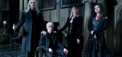 Lucius, Draco, Narcissa, and Bellatrix