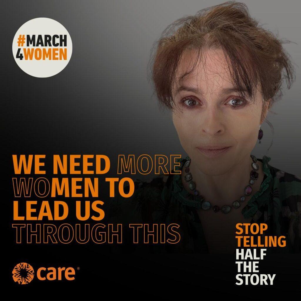 Helena Bonham Carter March4Women Campaign 2021