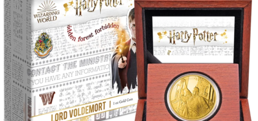 The HARRY POTTER™ Classic - Lord Voldemort 1oz Gold Coin from New Zealand Mint is shown in a featured image.