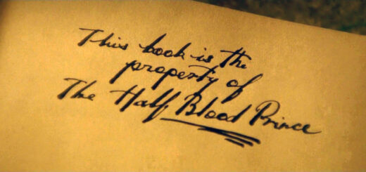 """Inscription from Harry's potion book: """"This book is the property of the Half-Blood Prince"""""""