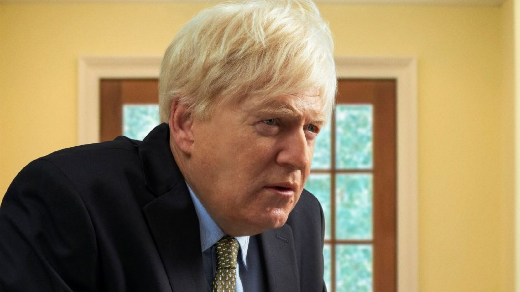 "Sir Kenneth Branagh is unrecognizable as United Kingdom Prime Minister Boris Johnson in ""This Sceptred Isle."""
