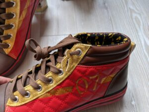 Snitch ornaments and print inside the Harry Potter Quidditch shoes
