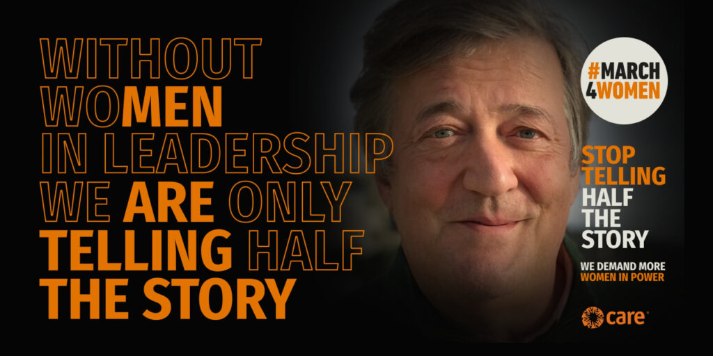 Stephen Fry March4Women 2021 campaign