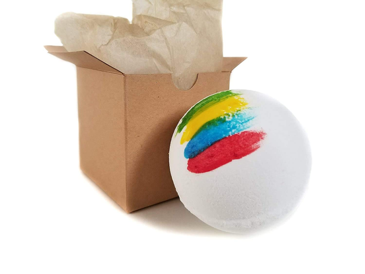 The Sorting Bath Bomb from J&M Bath Bombs is shown as pictured on Amazon.