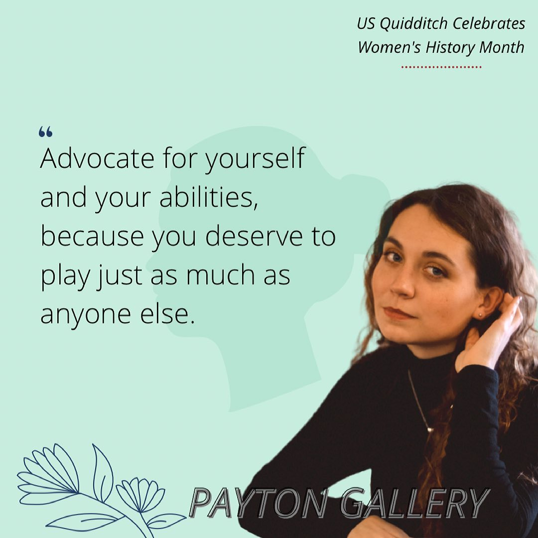 Payton Gallery gives advice to women who are starting out in Muggle quidditch.