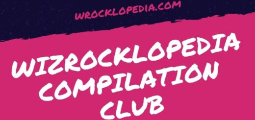 Wizrocklopedia Compilation Club banner with website URL