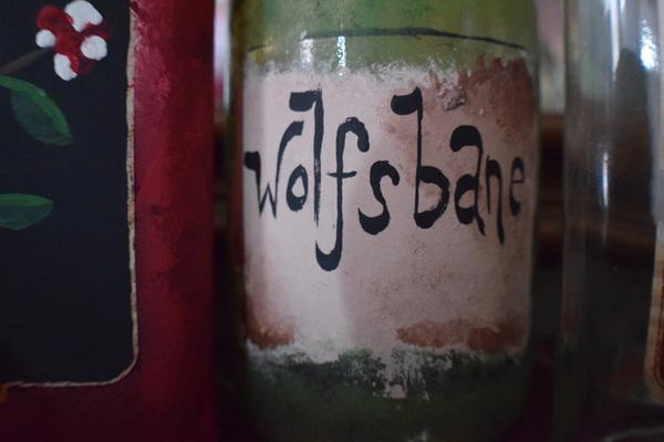 DIY potion bottle label wolfsbane