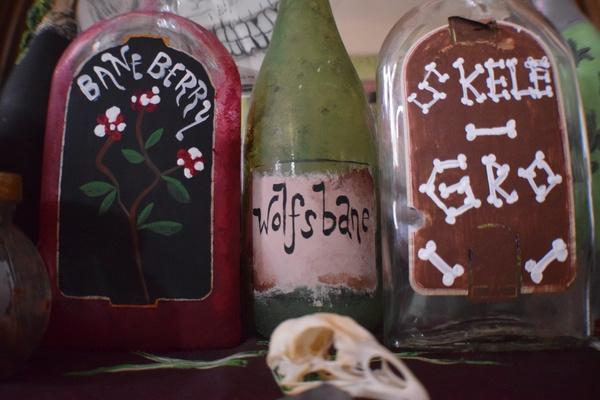 DIY potion bottle labels