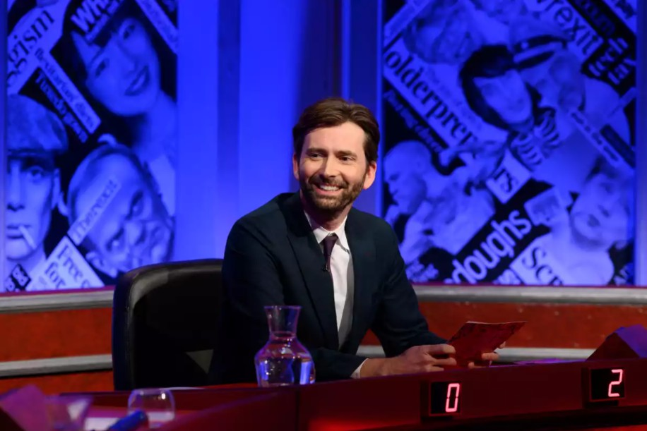 """David Tennant as a guest host on """"Have I Got News For You."""""""
