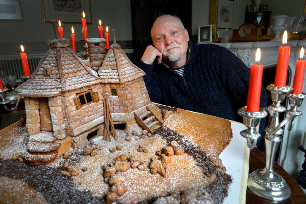 Terry Hartill Gingerbread Hagrid's Hut Creation