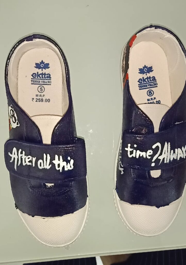 This is a DIY of hand-painted shoes.