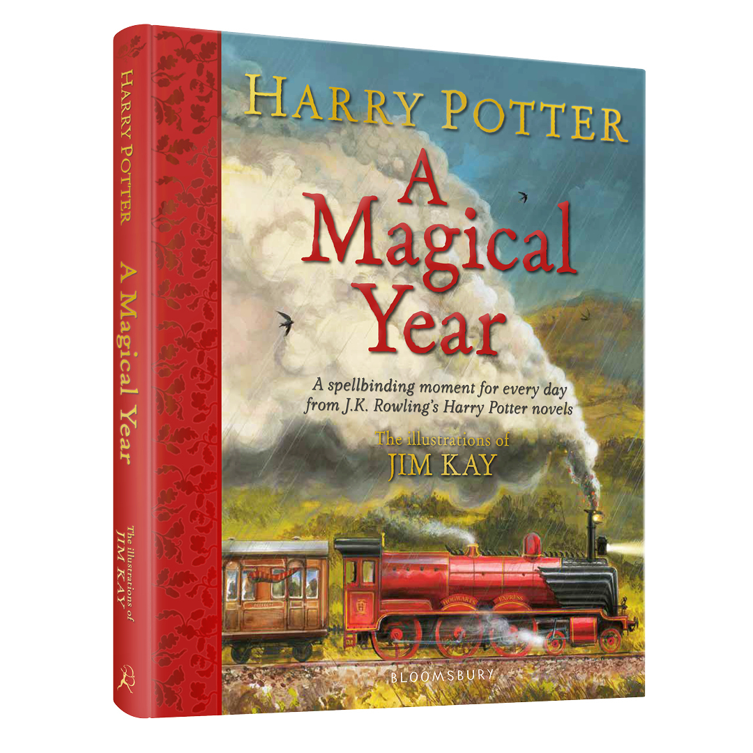 """3D cover image of """"Harry Potter – A Magical Year: The Illustrations of Jim Kay"""""""
