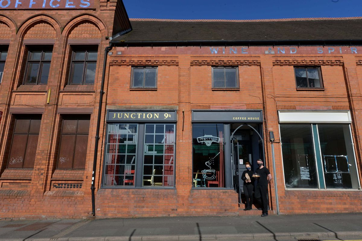 """Partners and """"Harry Potter"""" fans Jennie Bentley and Ashley Hodgkins opened a """"Potter""""-themed coffee house named Junction 9 ¾ because it's located near Junction 9 of the motorway M6."""