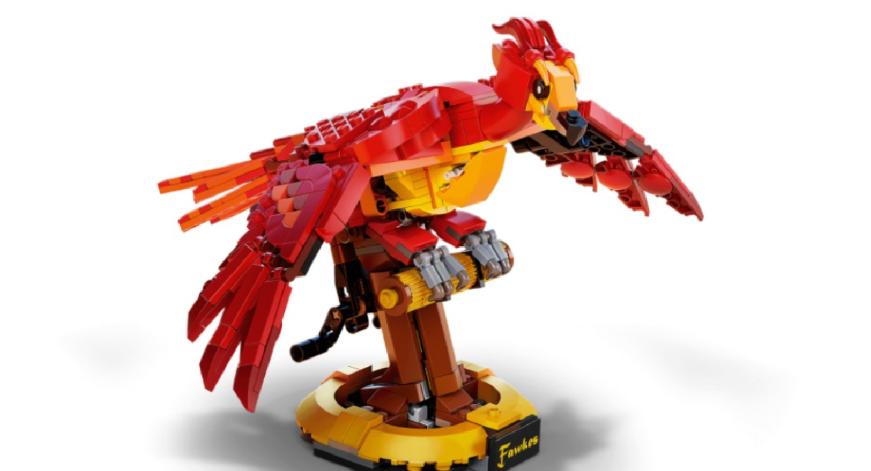 LEGO's Fawkes, Dumbledore's Phoenix.