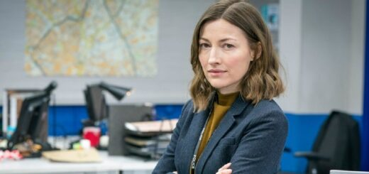 "Kelly Macdonald as DCI Joanna Davidson in ""Line of Duty."""