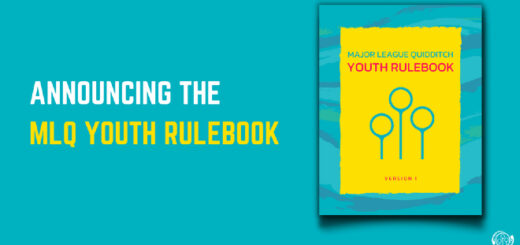 "The cover of the MLQ Youth Rulebook is shown against a cyan background alongside text that reads, ""Announcing the MLQ Youth Rulebook"" in capital letters."
