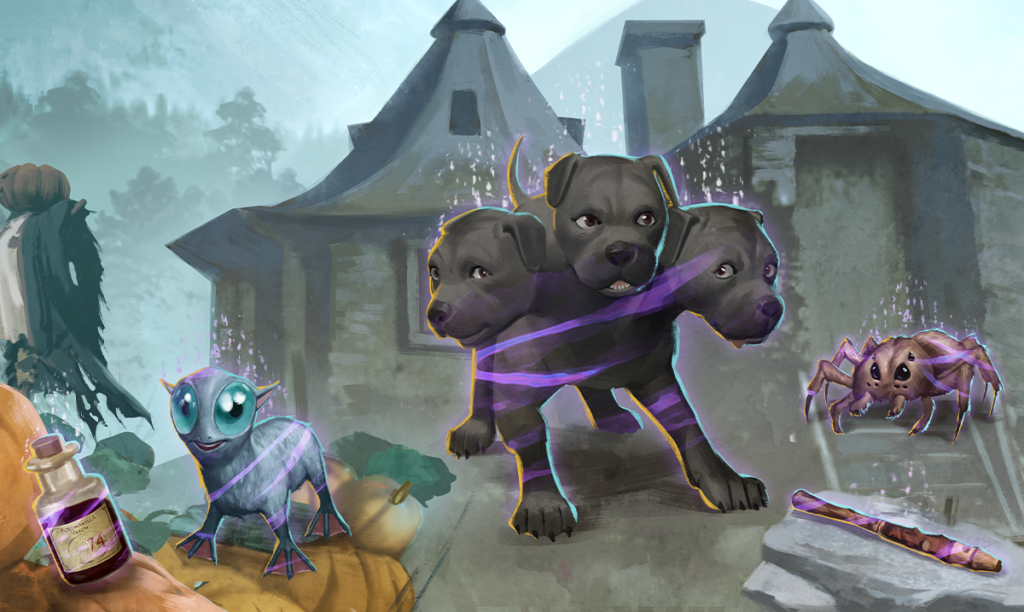 """For the """"Harry Potter: Wizards Unite"""" May 2021 Brilliant Event, players will be on the hunt for Brilliant Foundables that belong to Brilliant Hagrid's Hut, including the Brilliant Baby Three-Headed Dog and Brilliant Baby Mooncalf."""