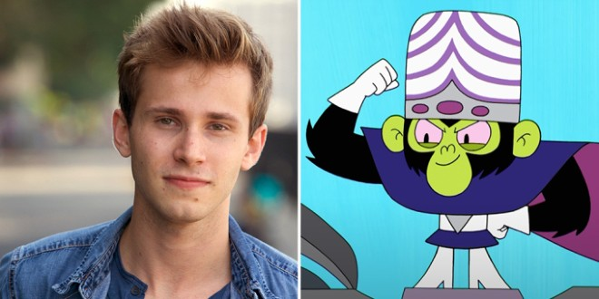 A split image of Nicholas Podany looking gread and smiley in a headshot on the left and an evil green cartoon monkey on the right side.
