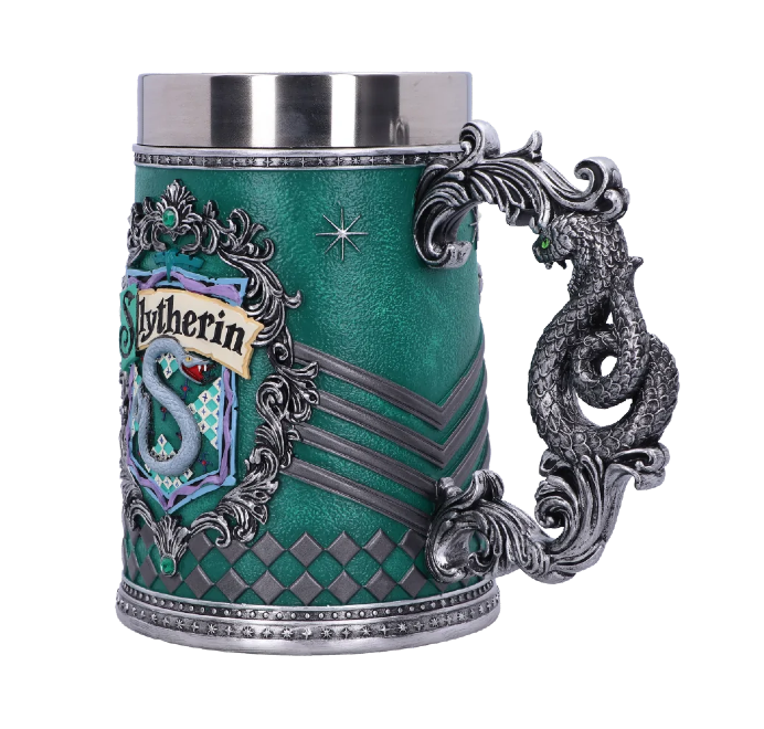 Each Hogwarts House has its own tankard and goblet.