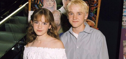 Tom Felton wished Emma Watson a happy birthday with this throwback image.