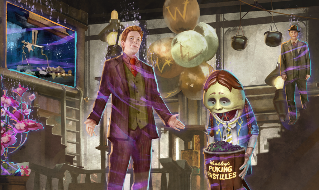 After the first April Adversaries Event ends on April 5, the first Brilliant Event of April begins. A Weasley Predicament Brilliant Event - Part 1 features Foundables to be returned to the Weasleys' Wizard Wheezes.