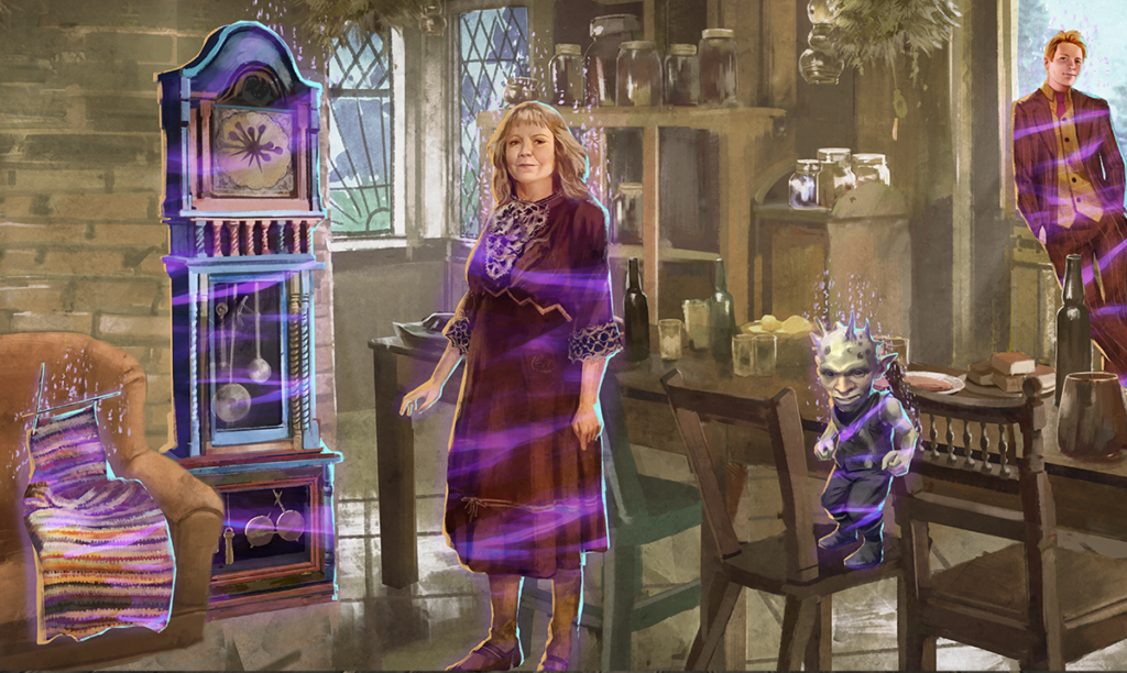 In A Weasley Predicament Brilliant Event - Part 2, you'll be responsible for finding Foundables belonging to the Brilliant Burrow Kitchen such as Proprietor Fred Weasley and the Weasley Clock.