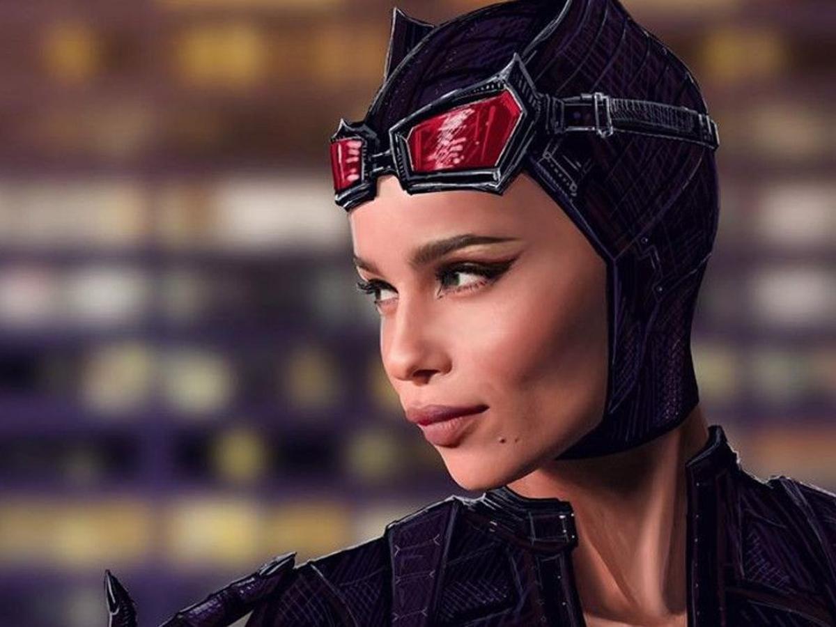 "Zoë Kravitz as Catwoman in upcoming movie ""The Batman."""