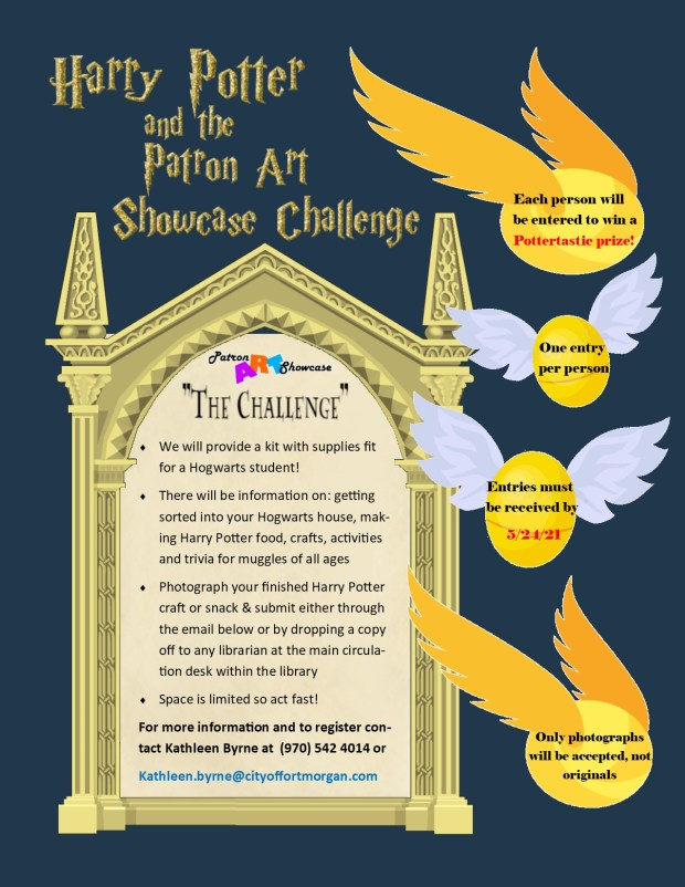 """Art challenge allows participants a chance to win a """"Harry Potter"""" swag bag."""