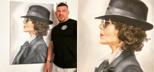 Artist Paul Cottie and his portrait of the late Helen McCrory