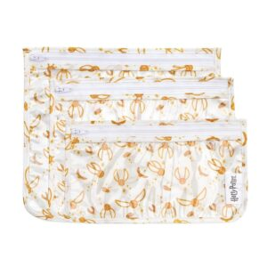 The Bumkins TSA Approved Toiletry Bag, Harry Potter Travel Bag is pictured as sold on Amazon.