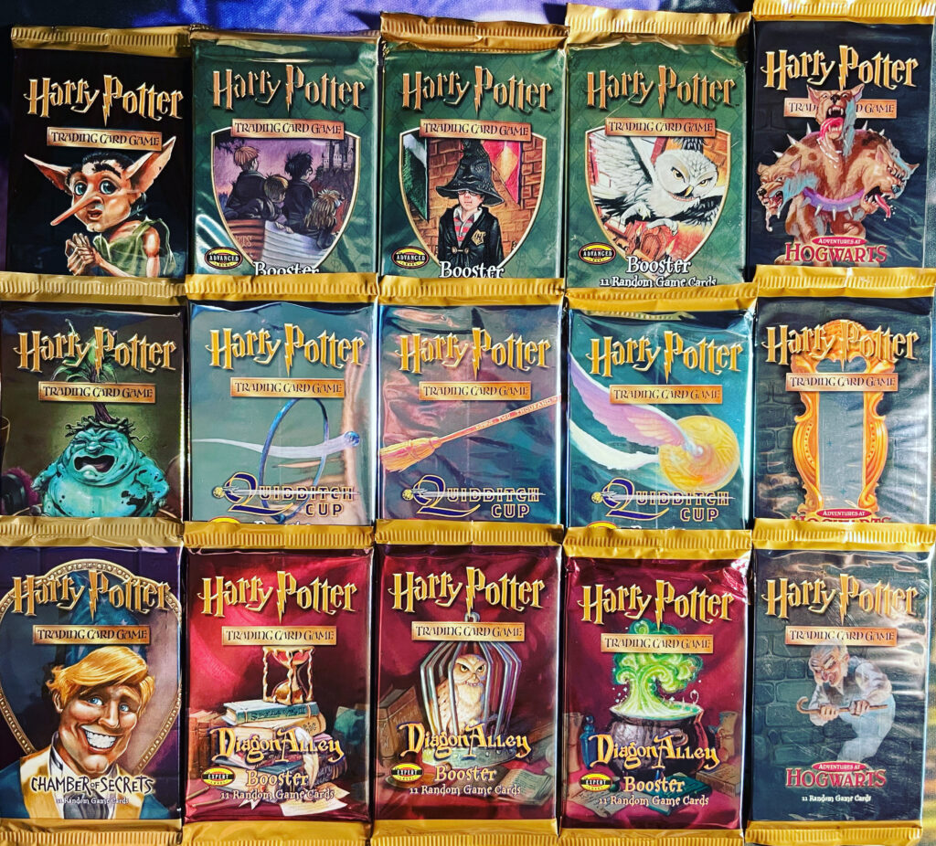 These are examples of HPTCG booster packs.