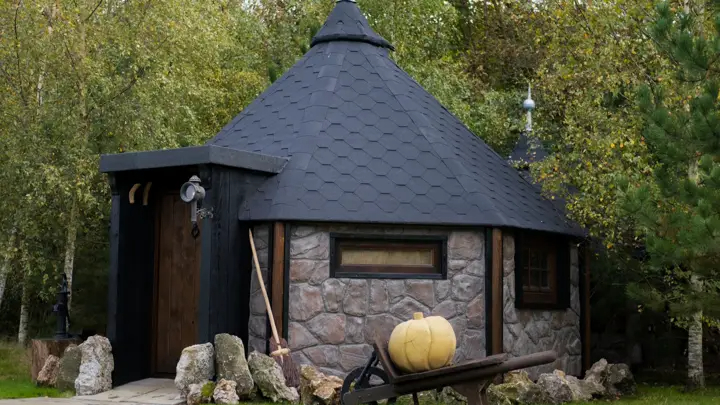 """Hagridd's Hideaway, a guest home for travelers, resembles the lovable giant's home in the """"Harry Potter"""" films."""