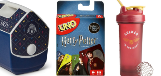 """""""Harry Potter"""" merchandise suitable for a camping trip is previewed in this featured image."""