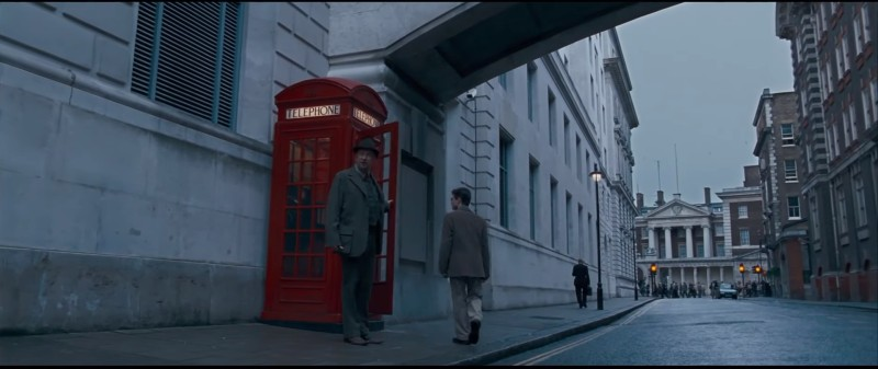 """In """"Order of the Phoenix,"""" Harry and Arthur head to the corner of Scotland Yard and Scotland Place to use the visitor's entrance into the Ministry of Magic."""