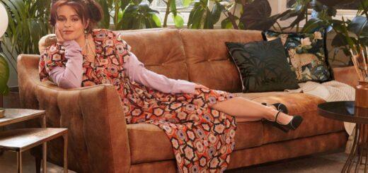 Helena Bohnam Carter posing for Sofology.