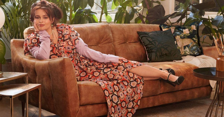 Helena Bohnam-Carter posing for Sofology.