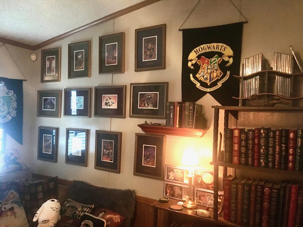 These are the decorations on the walls of Doug Potter's house.