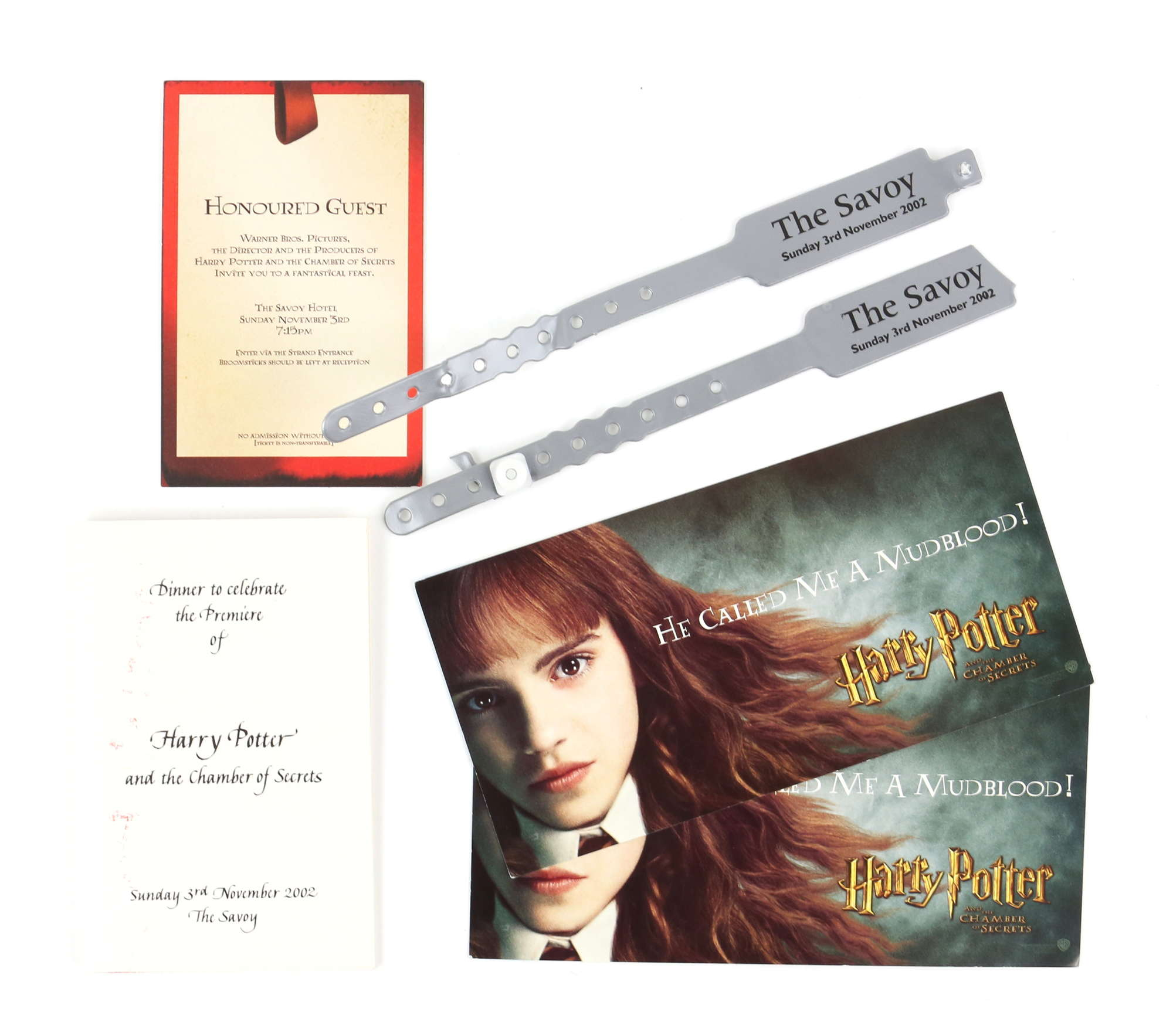 """The crew member is also selling some event memorabilia, including two tickets to the premiere of """"Harry Potter and the Chamber of Secrets."""""""