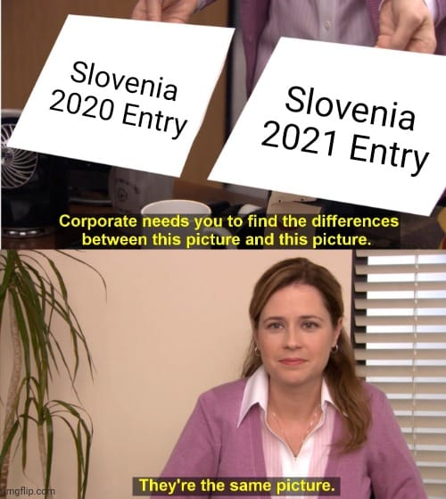 The Slovenian songs from last year and this year are very similar.
