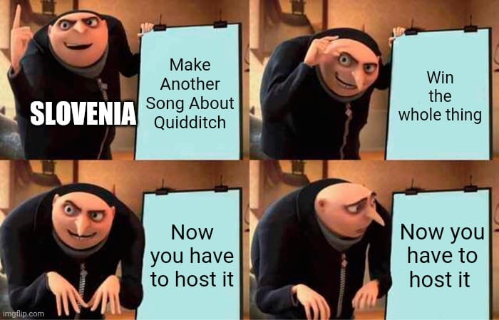 Slovenia won, and now it has to host the next Qeurovision.