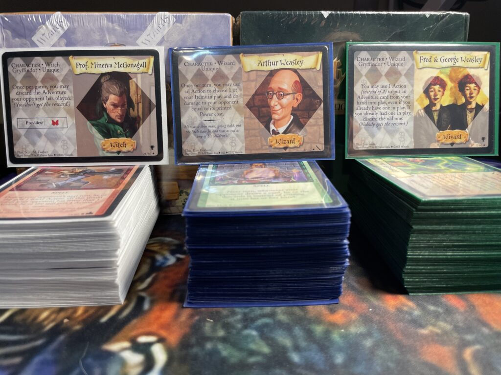 These are character cards for HPTCG.