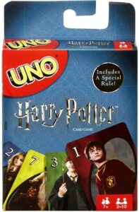 The UNO Harry Potter Card Game is pictured as sold on Amazon.