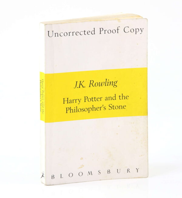 """An uncorrected proof copy of """"Harry Potter and the Philosopher's Stone"""" is going up for auction on May 27. It is valued between £2,000 and £4,000."""
